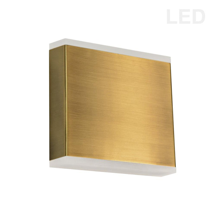 Dainolite EMY-550-5W-AGB Emery 15W LED Wall Sconce, Aged Brass with Frosted Acrylic Diffuser
