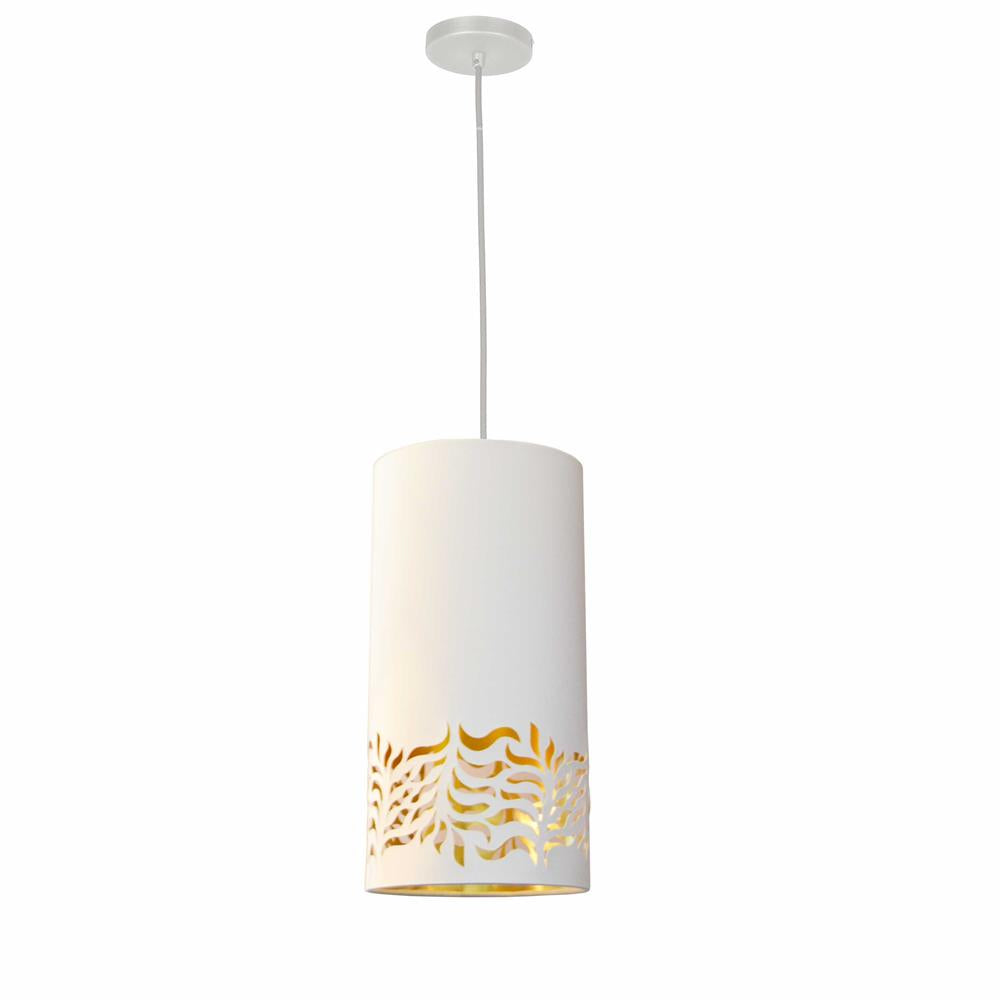 Dainolite GLO-1P-692 Glora 1 Light Glora Pendant JTone White Gold White