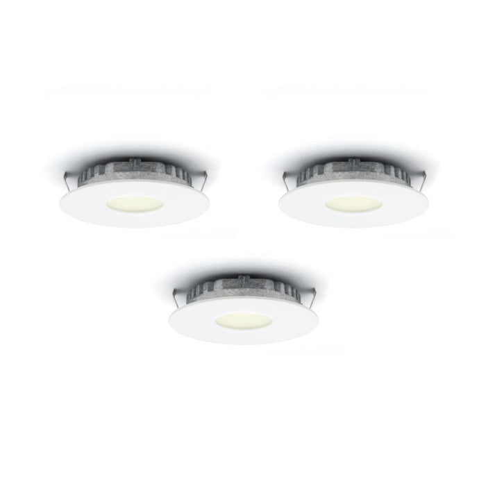 Dals Lighting K4001-WH Kit of 3 LED Superpuck Recess, 1.6W, 3000k, 168 Lumens - WH