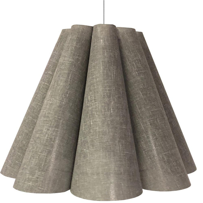 Dainolite KEN-L-2423 Kendra 4 Light Kendra Pendant Milano Grey, Large Polished Chrome