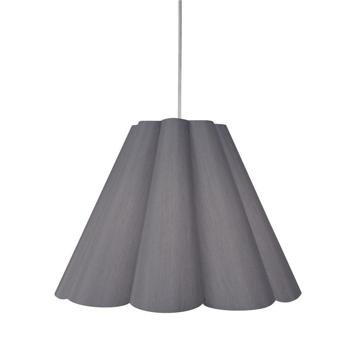 Dainolite KEN-M-835 Kendra 4 Light Kendra Pendant SGlow Grey, Medium Polished Chrome