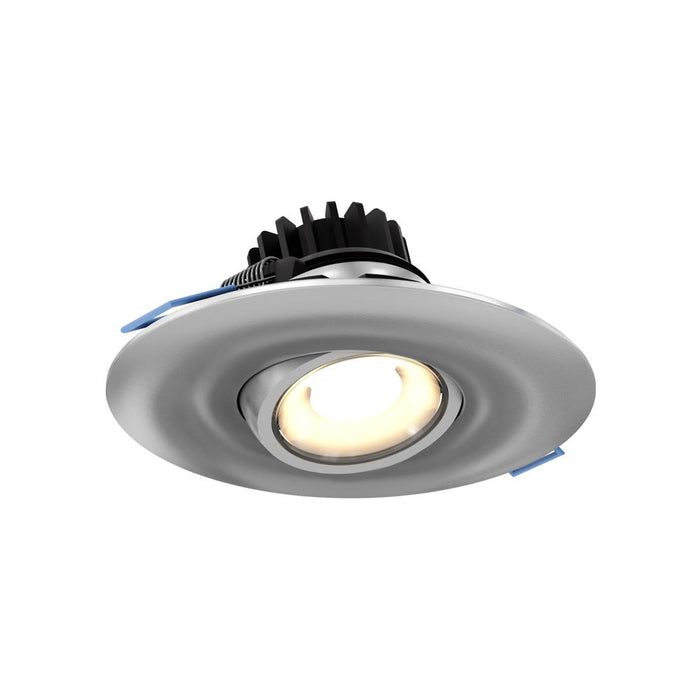 "Dals Lighting LEDDOWNG4-SN 4"" LED Round Gimbal Recessed Light, 8W, 3000k, 500 Lumens 90 CRI - Sn"