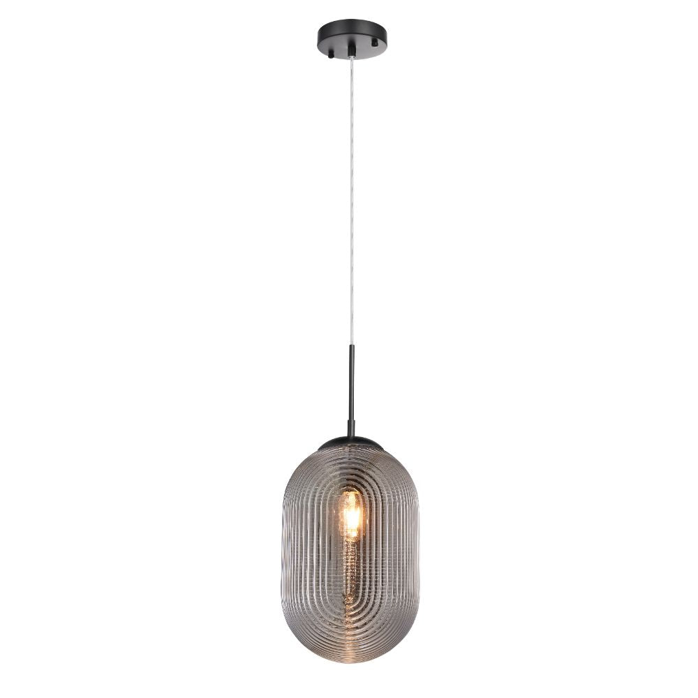 L2 Lighting LL1797 Pendant/Suspendue Simple	 in Smoked Grey/Black