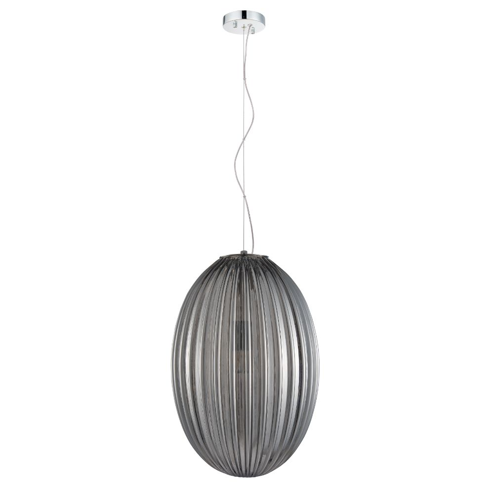 L2 Lighting LL1801 Pendant/Suspendue Simple	 in Smoked Grey/Black