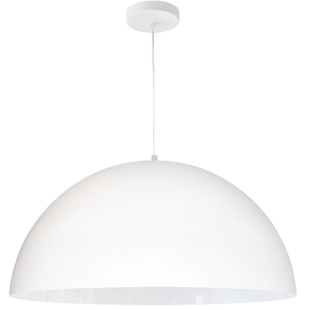 Dainolite OFE-201P-MW Ofelia 1 Light Incandescent Large Dome Pendant, Matte White