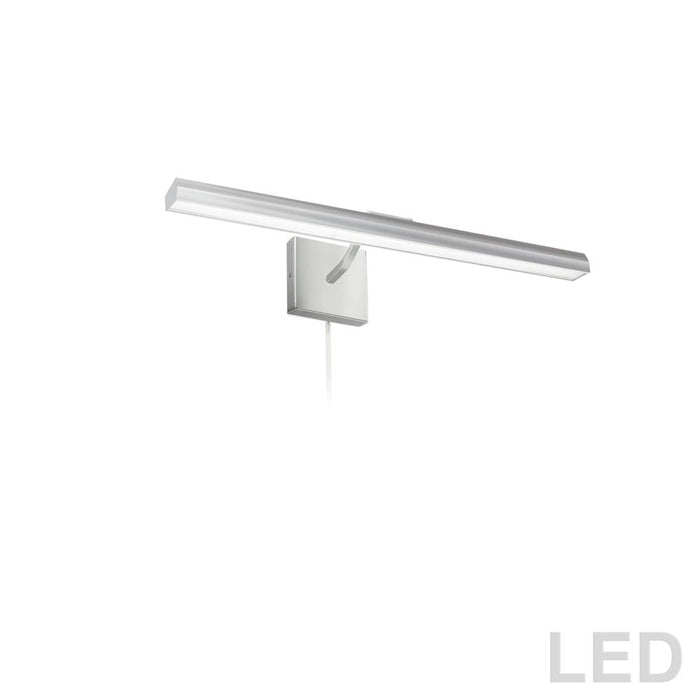 "Dainolite PIC222-24LED-SC Leonardo 30W 24"" Picture Light, Satin Chrome with Frosted Glass Diffuser"