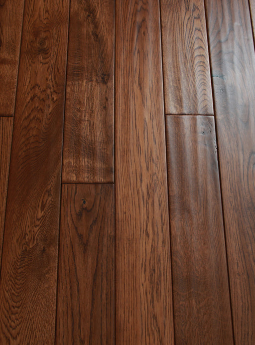 RSTM Class Brown - Handscraped French White Oak Hardwood Flooring
