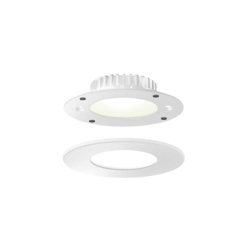 "Dals Lighting RTF4-3K-WH 4"" panel light retrofit for octagonal junction box and 4"" can"