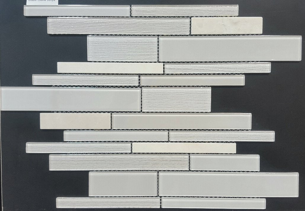 Random Strip Taupe Kitchen Backsplash Tiles