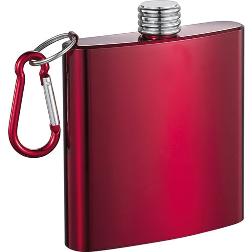 Visol Red Dragon 6 Oz Red Anodized Stainless Steel Flask