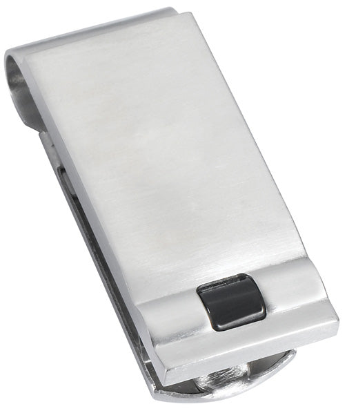 Visol Kuro Brushed Stainless Steel Money Clip