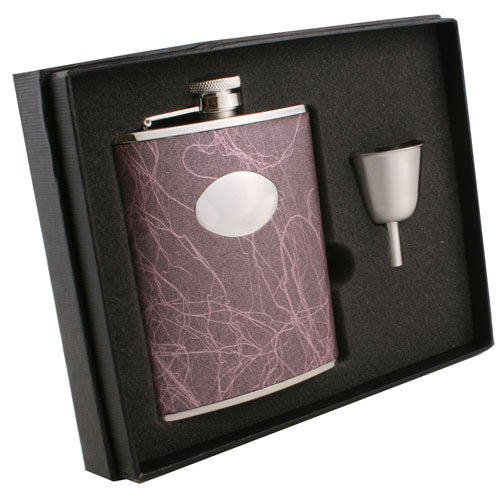 Visol Lighting Stainless Steel 6oz Flask Gift Set