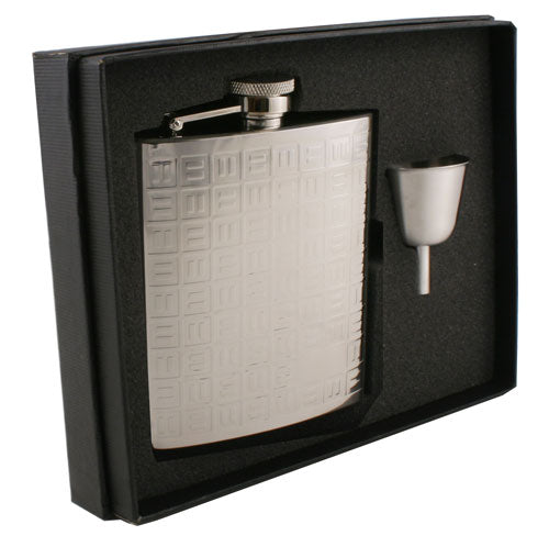 Visol Domino Stainless Steel 8oz Flask Gift Set