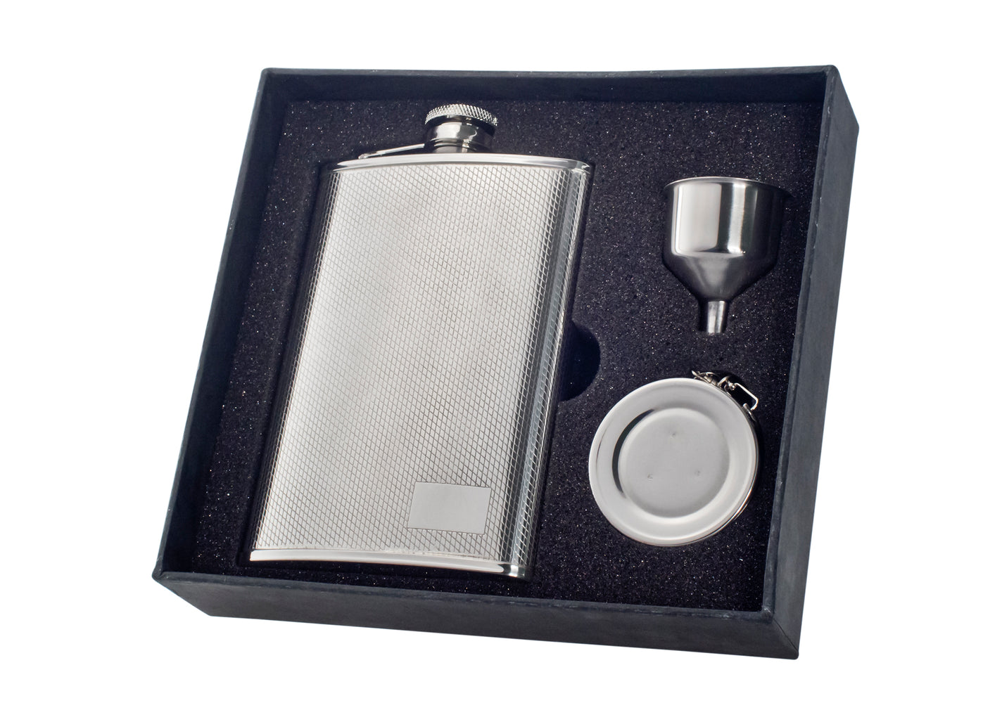 Visol Pixel Stainless Steel 8oz Stellar Flask Gift Set
