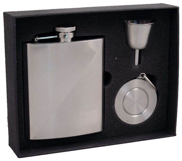 Visol Duo Two-tone Stainless Steel 8oz Stellar Flask Gift Set
