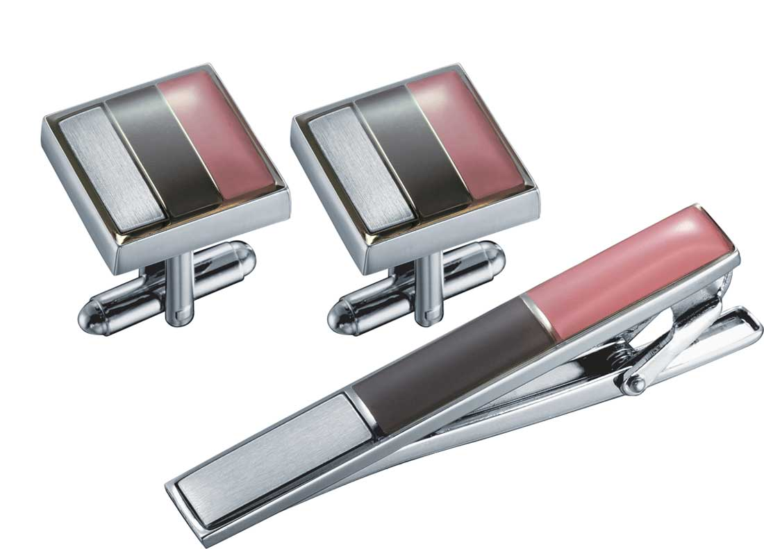 Visol Troy Cufflinks And Tie Bar Gift Set
