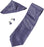 Justin Purple And Black Stripe Pattern Tie, Cufflinks And Pocket Square Gift Set