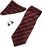 Renly Red And Burgundy Pattern Tie, Cufflinks And Pocket Square Gift Set