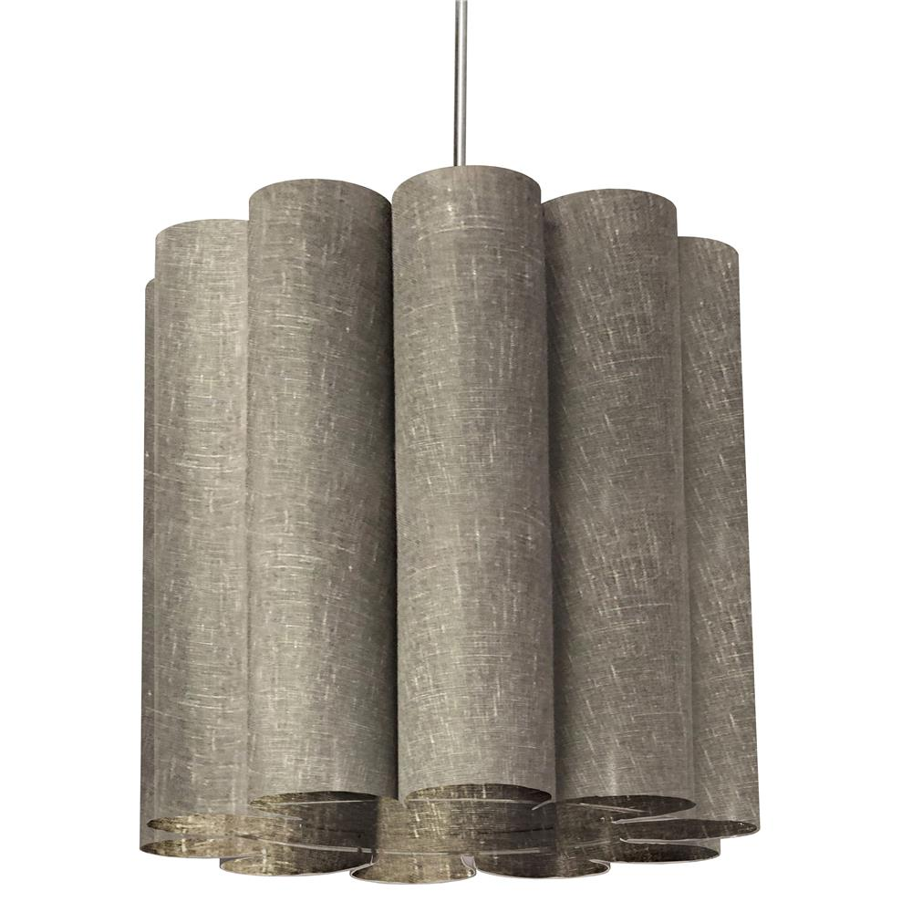 Dainolite SAN201-PC-2423 Sandra 1 Light Sandra Pendant Milano Grey Polished Chrome