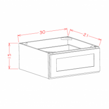 "Shaker White - 1 Drawer 30"" Wide"