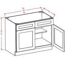 Grey Shaker - Sink Bases Kitchen Cabinet