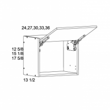 "12 5/8"" H Flip up Wall Cabinets"