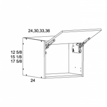"15 1/8"" H by 24""D Flip up Wall Cabinets, TWP-WFD361524"