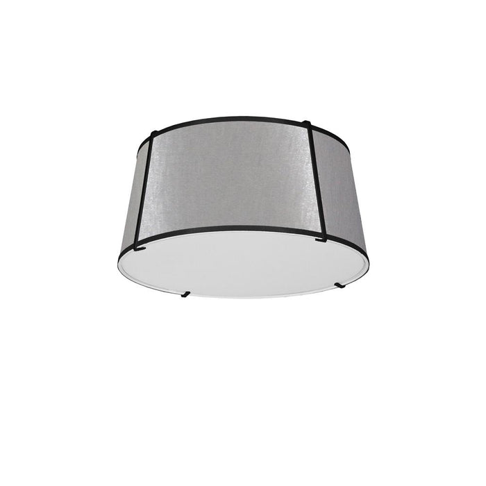 Dainolite TRA-3FH-BK-GRY Trapazoid 3 Light Trapezoid Flush Mount Black Grey Shade with 790 Diffuser