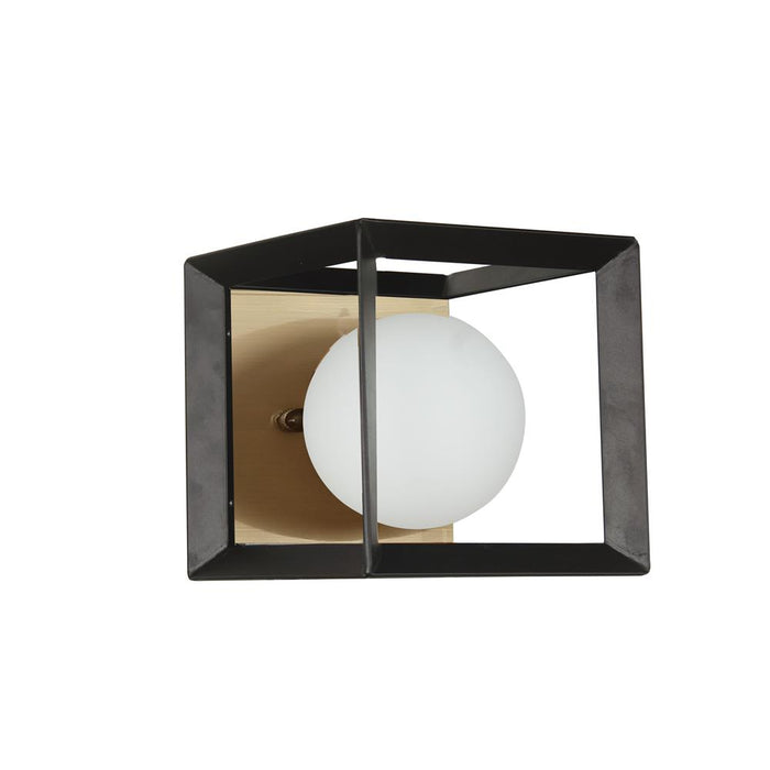 Dainolite V166-1W-BK-AGB 1 Light Halogen Wall Sconce Black and Aged Brass Finish