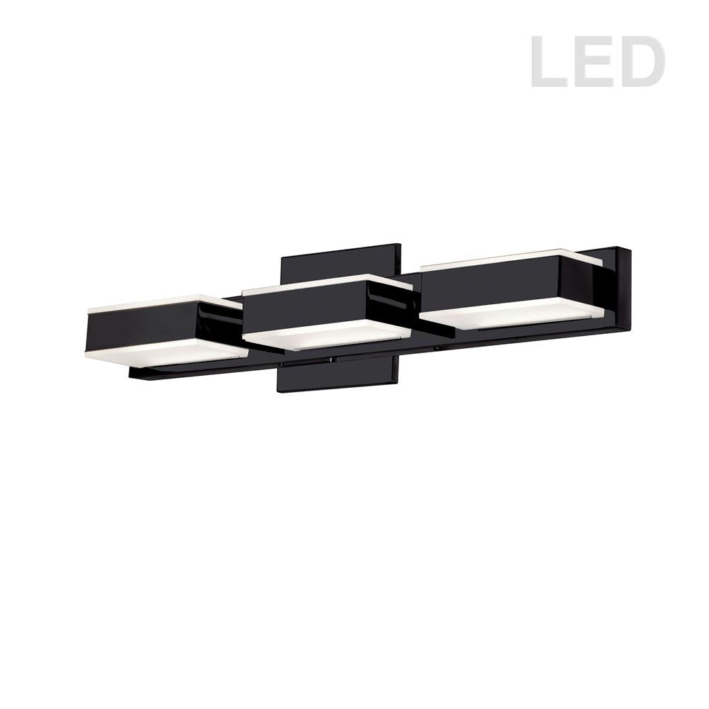 Dainolite VLD-215-3W-MB 3 Light LED Wall Vanity, Matte Black Finish