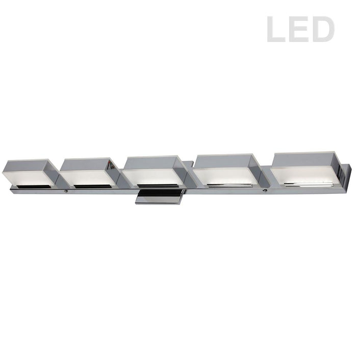 Dainolite VLD-215-5W-PC 5LT LED Wall Vanity, Polished Chrome Finish