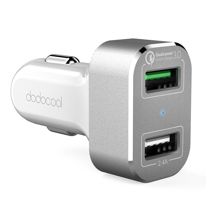 dodocool Dual USB Car Charger Quick Charge 3.0 Mobile Phone Car-charger adapter for iPhone 7 Samsung Xiaomi Car Phone Charger