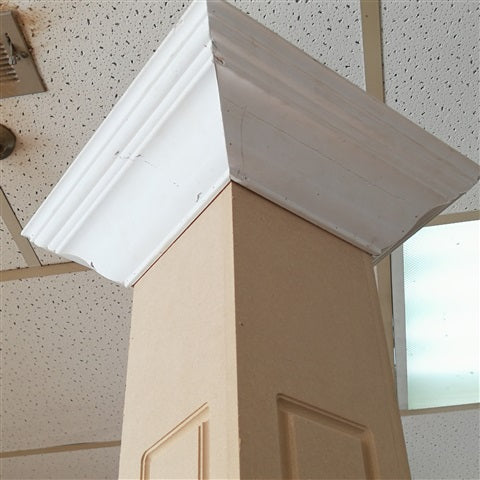"MDF Post cover 96"" X 6-1/2"" with moulding"