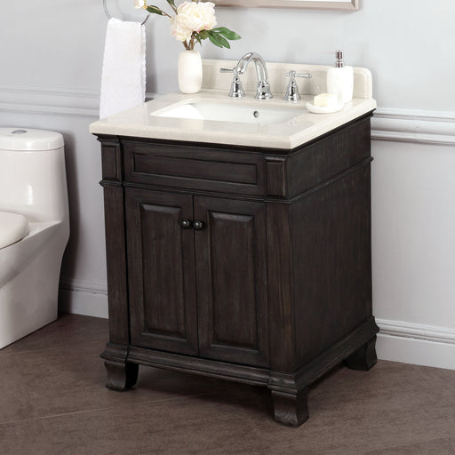 "Kingsley 28"" Single Sink Vanity with Alpine Mist Countertop"