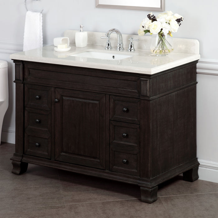 "48"" Single Sink Vanity with Alpine Mist Countertop"