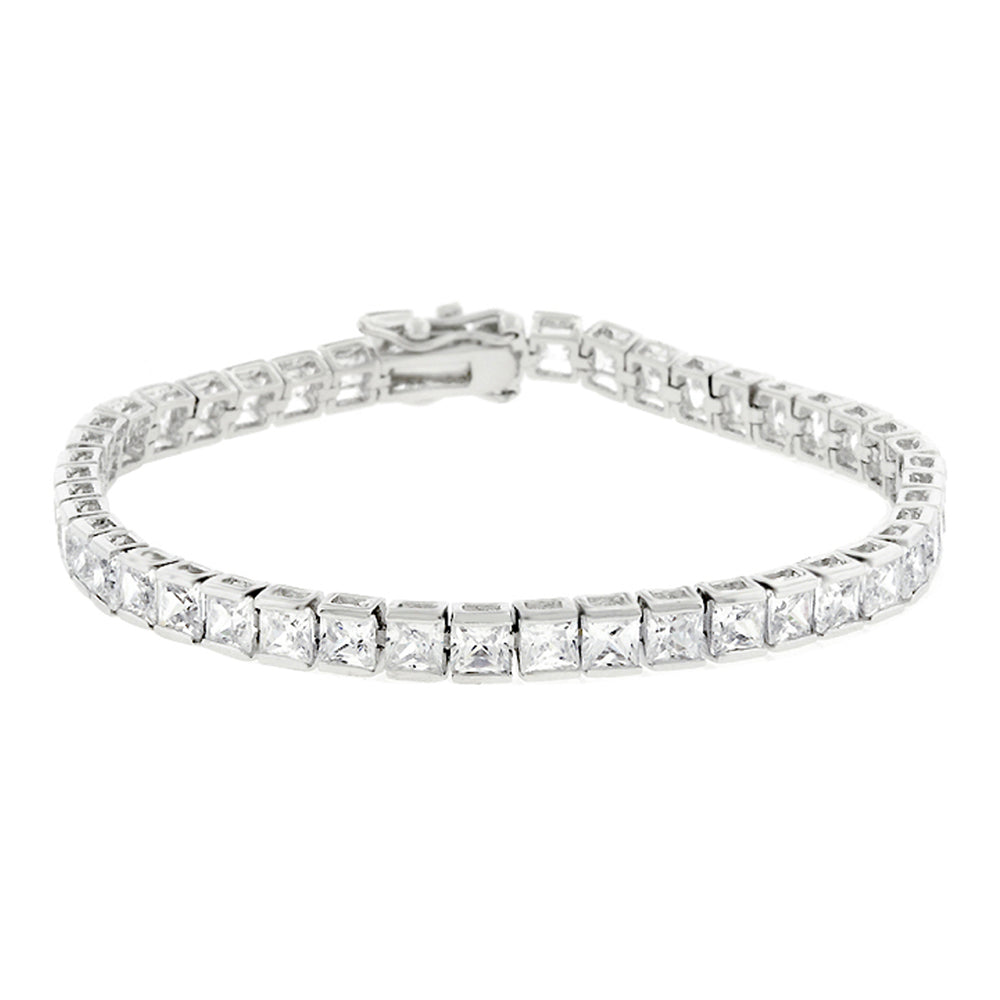 J Goodin Contemporary Fashion Style Clear Cubic Zirconia Tennis Bracelet For Women