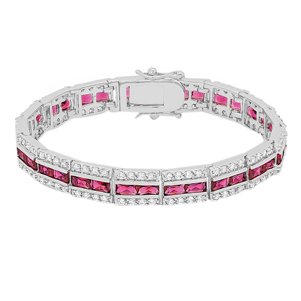 J Goodin Contemporary Fashion Style Balboa Red Cubic Zirconia Bracelet For Women