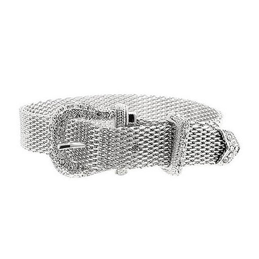 J Goodin Contemporary Fashion Style Silvertone Finish Buckle Bracelet For Women