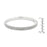 J Goodin Fashion Contemporary Style Pave Classic Style Bangle Bracelet