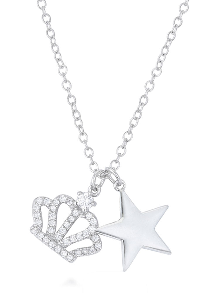 J Goodin Women Fashion Jewelry Vanessa Crown And Amp, Star Charm 0.4 Ct Pendant