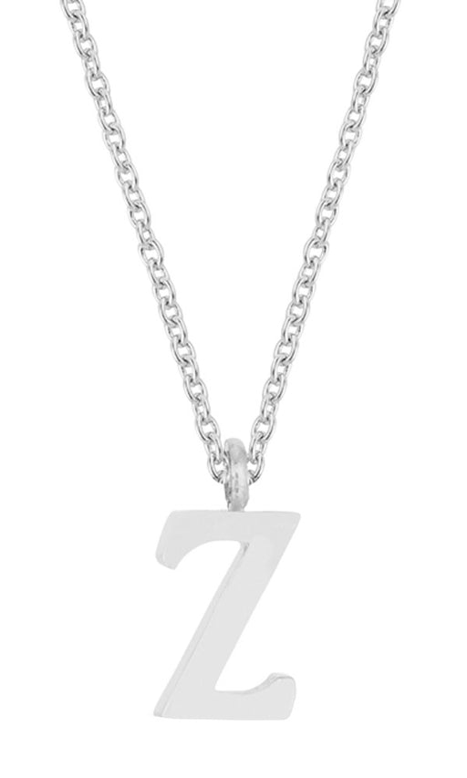 J Goodin Trendy Women Jewelry Elaina White Gold Rhodium Stainless Steel Z Initial Necklace