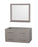 42 In. Single Bathroom Vanity In Gray Oak, No Countertop, No Sink, And 36 In. Mirror
