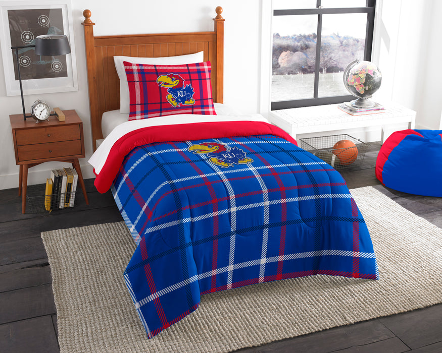 "Kansas OFFICIAL Collegiate, Bedding, Twin Applique Comforter (64""""x 86"""") & 1 Sham (20""""x 26"""") Set  by The Northwest Company"