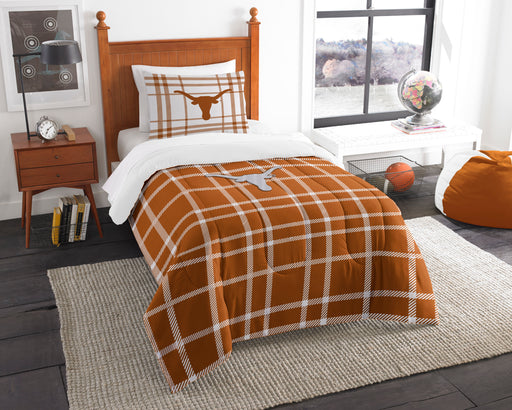"Texas OFFICIAL Collegiate, Bedding, Twin Applique Comforter (64""""x 86"""") & 1 Sham (20""""x 26"""") Set  by The Northwest Company"