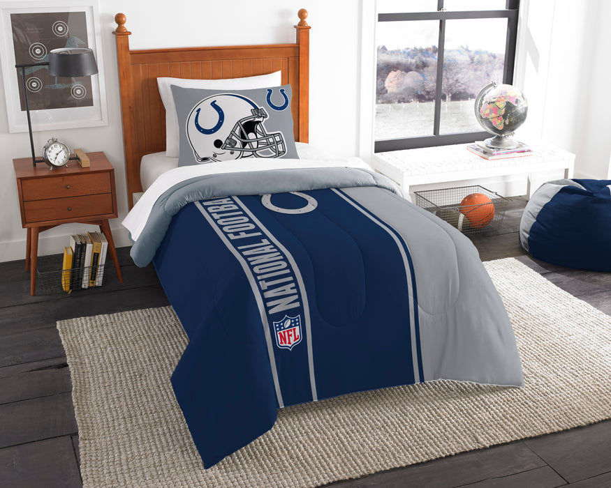 "Colts OFFICIAL National Football League, Bedding Twin Applique Comforter (64""""x 86"""") & 1 Sham (20""""x 26"""") Set  by The Northwest Company"