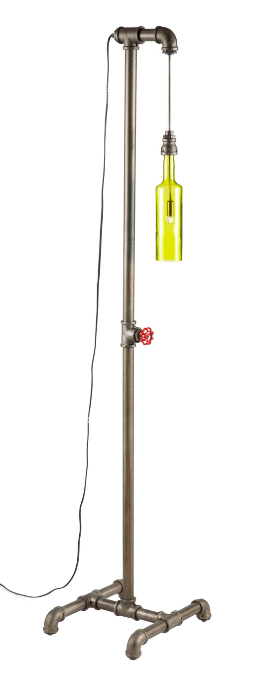 Prase Floor Lamp Steel & Olive