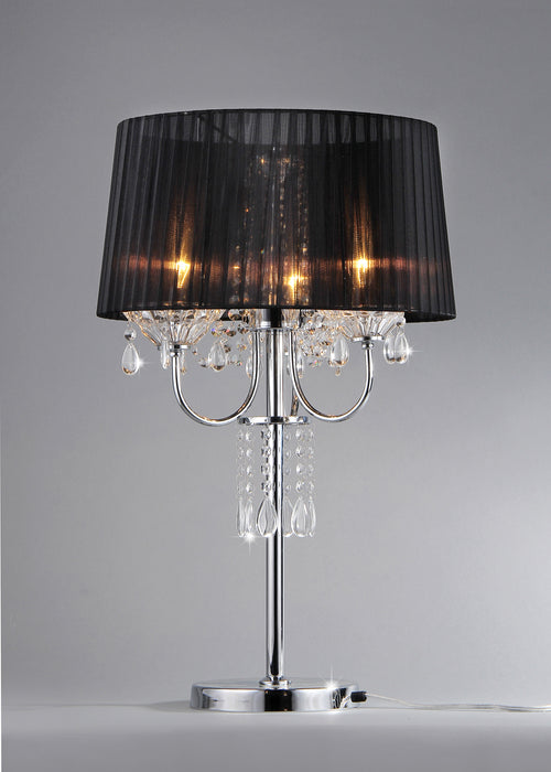 Victoria Crystal And Chrome Table Lamp