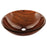 "Fauceture Evsdlr3 Valley 16-1-2"" Diameter Double Layer Glass Vessel Bathroom Sink - Mahogany Brown"
