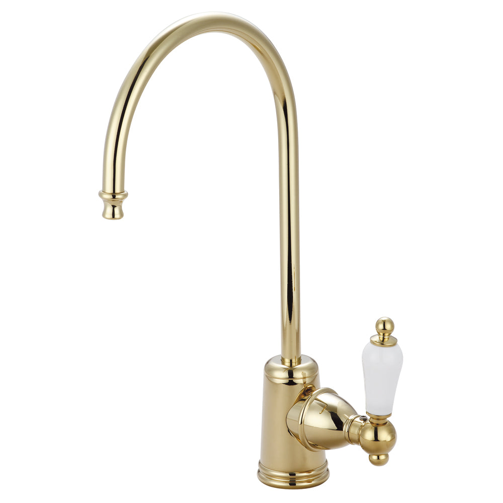 Kingston Brass Ks7192pl Victorian Single Handle Water Filtration Faucet, Polished Brass - Polished Brass