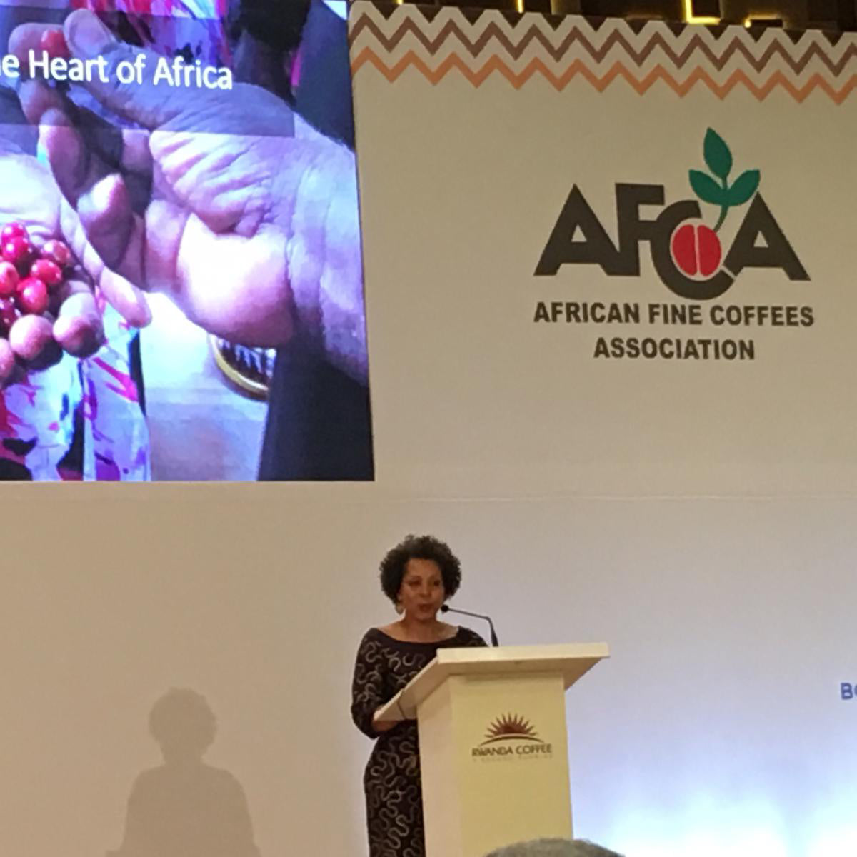 Delivering Keynote Address: Phyllis Johnson, BD Imports,  Kigali Rwanda - 2019 AFCA Conference